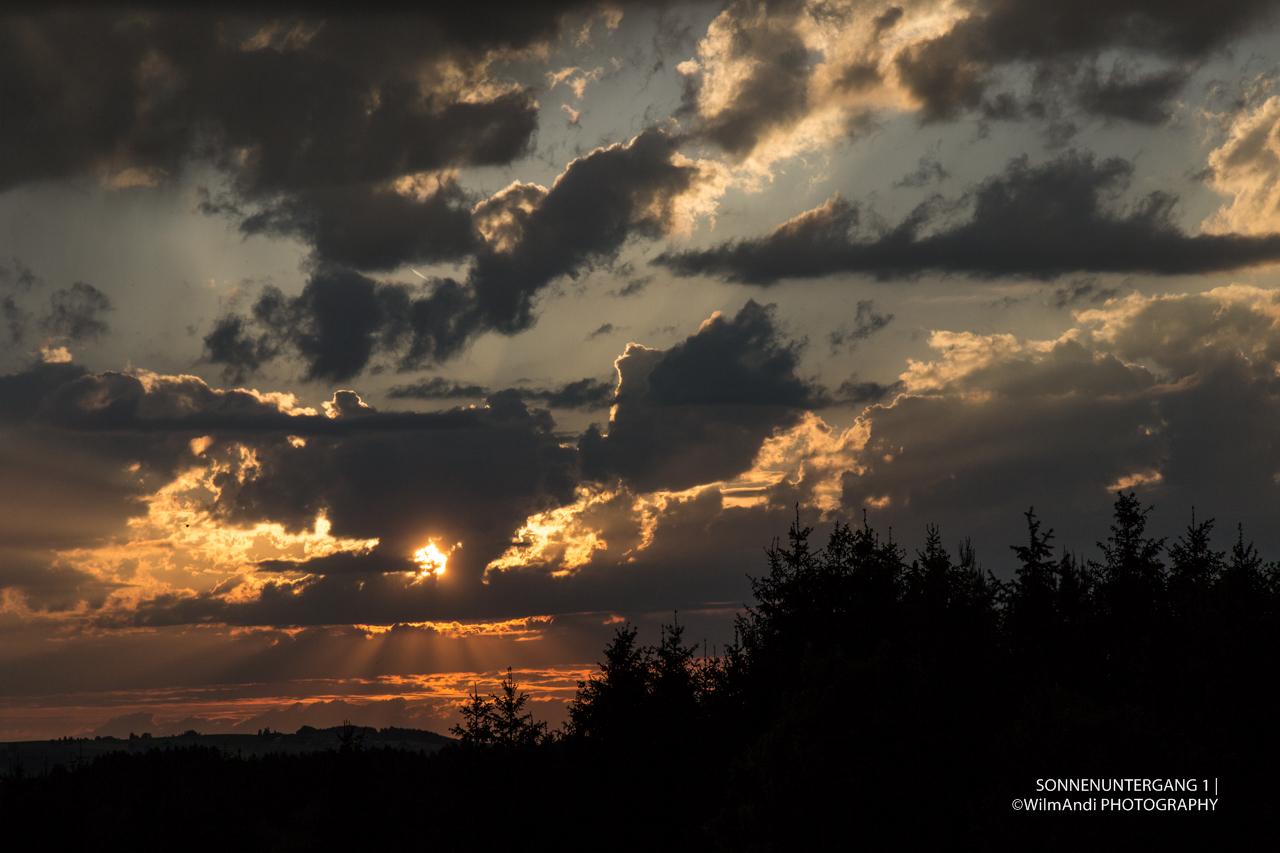 Sonnenuntergang gestern Abend