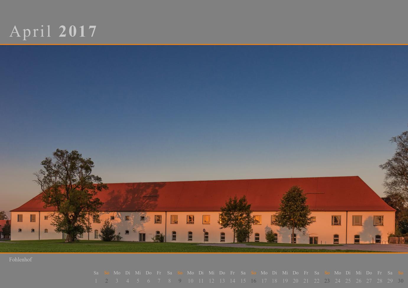 Kalender 2017 April