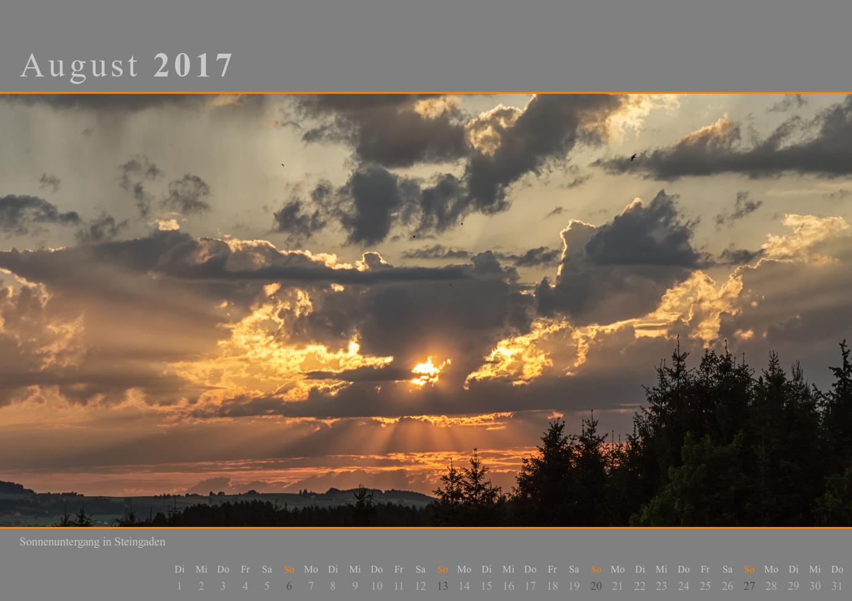 Kalender 2017 August