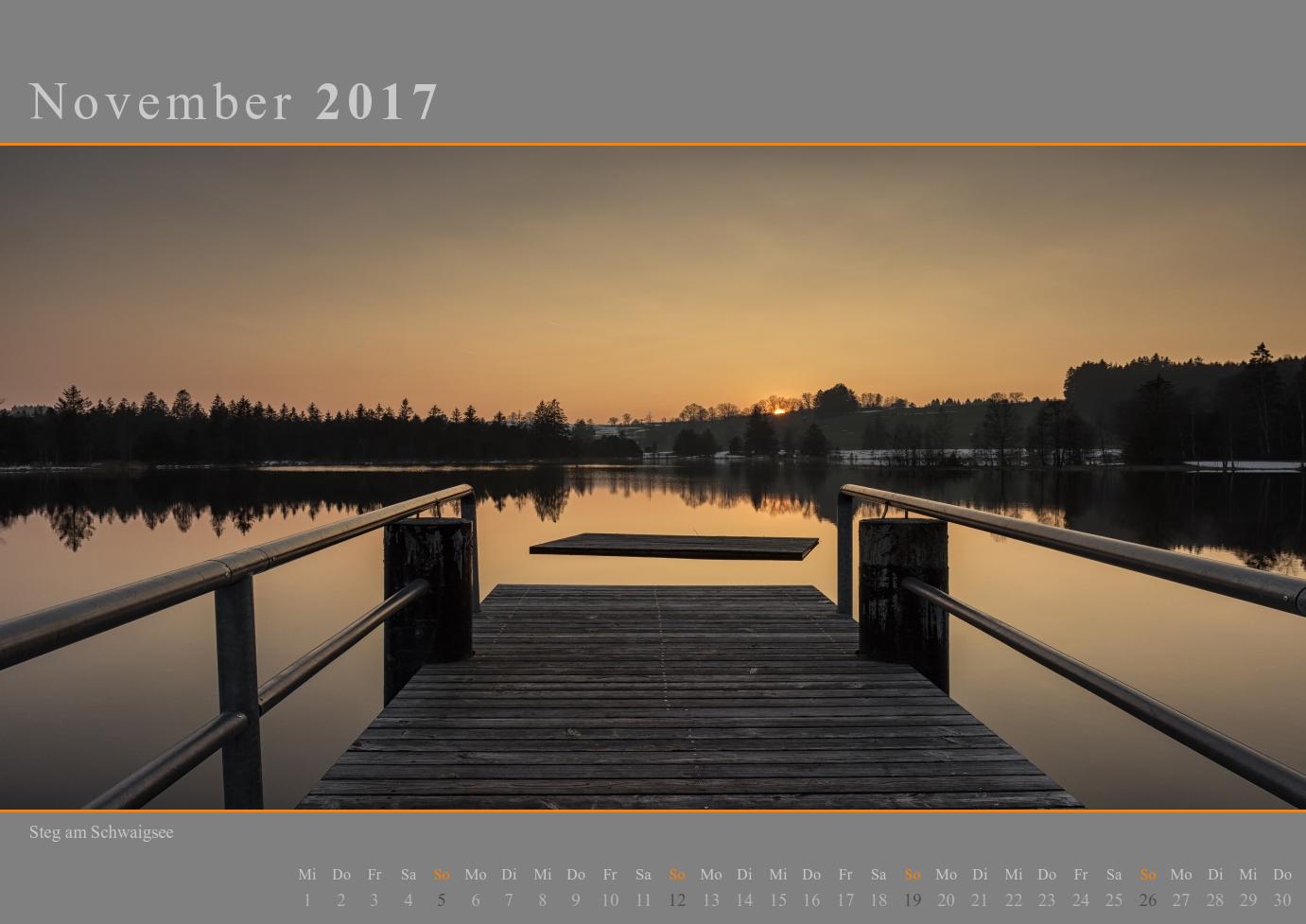 Kalender 2017 November