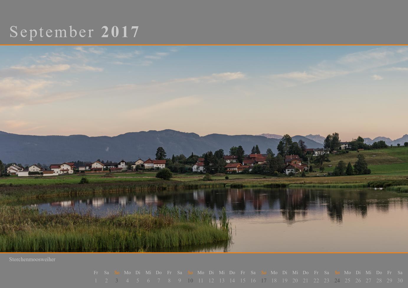 Kalender 2017 September