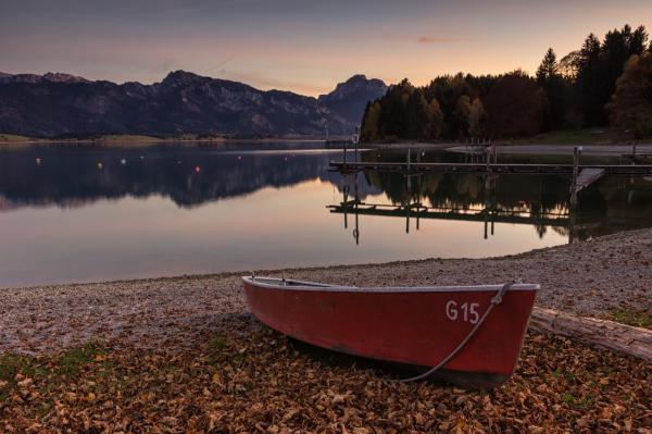 Einsames Ruderboot